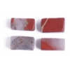 Red Jasper 4X7mm Rectangular Tube Semi-Precious